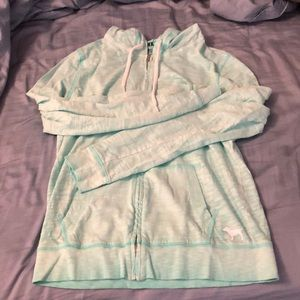Vs pink zip up jacket xs